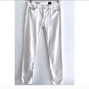 Ag Adriano Goldschmied Jeans - AG The Stevie Ankle Slim Straight White Jeans 25